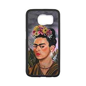 Super Famous Mexican Artist Frida Kahlo Self-portrait Paintings Plastic and TPU Case Cover for Samsung Galaxy S6 (Laser Technology)