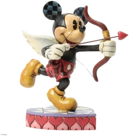 Jim Shore for Enesco Disney Traditions Cupid Mickey Mouse Figurine, 6.125-Inch