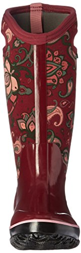 Bogs Ladies Classic Paisley Tall Burgandy Insulated Warm Wellington Boot 72031-UK 8 (EU 42)