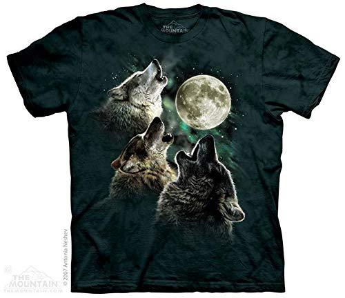 Wolf Shirt Three Wolf Moon Tie Dye T-shirt Adult Tee -
