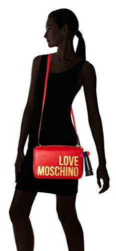 Rosso Pu Borsa Love Women Grain Moschino 1xnq7n0wOU
