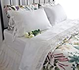 Queen's House Vintage Crochet Lace Bed Sheet Sets