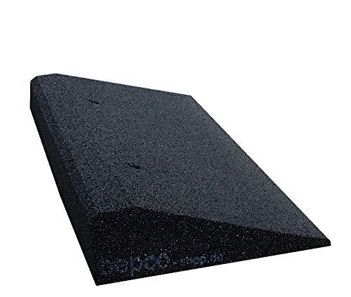 41UVF21ATPL bepco Bordsteinkanten-Rampe aus Gummifasern (schwarz) - Auffahrrampe - Türschwellenrampe (50 x 25 x 4 cm)