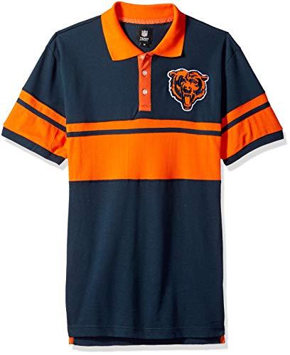 rs Football Team Logo Cotton Stripe Polo Shirt, Team Color, Large ()