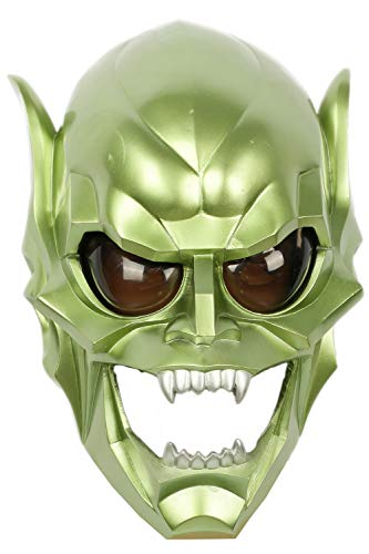 (Xcoser Goblin Mask Deluxe Green Resin Man Halloween Cosplay Costume)