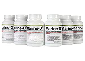 Marine-D3 | Superior Anti Aging Supplement With Seanol-P a High Form of Omega-3 | 340 mg of Calamarine | 1000 mg of Vitamin D3 | 6 Month Supply | 60 Day Money Back Guarantee - By Marine Essentials