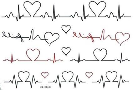 Halloween amor electrocardiograma Cartoon Tatuajes Temporales ...