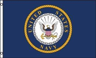Navy Naval Brass - US NAVY EMBLEM FLAG, 3'x5' American Naval