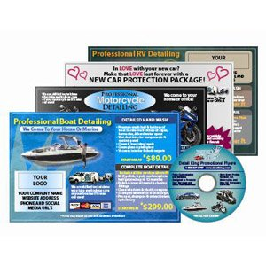 (Promotional Detailing Flyers For Boats, Motorcycles, RV's & New Automobiles)
