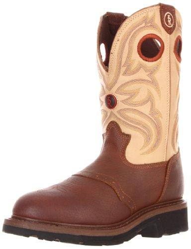 Tony Lama Boots Herenwerk Rr3210 Werkschoen Sienna Grizzly / Beige Bayou