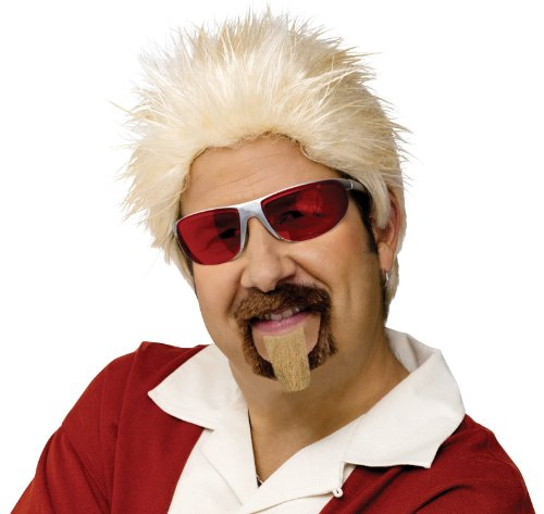 Fun World Unisex-Adult's Celebrity Chef Wig & Goatee, gold standard