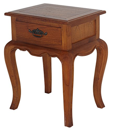 NES Furniture Fine Handcrafted Solid Mahogany Wood French Provincial Lamp Table, 26