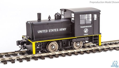 Plymouth ML-8 Industrial Switcher - DCC only -- United State Army Transportation Corps (black, yellow)