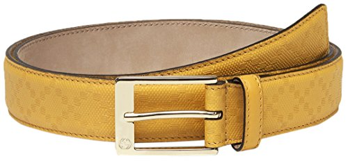 Gucci GG Yellow Diamante Leather Square Buckle Belt, 38, Yellow