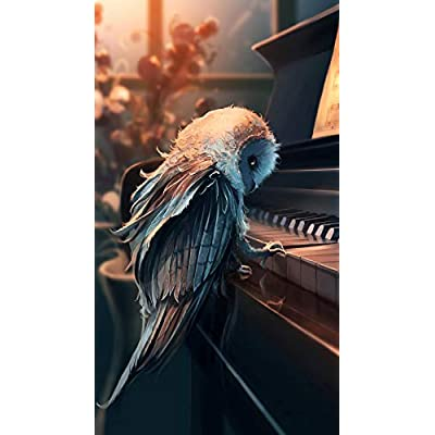 Adult Puzzle Classic Jigsaw Puzzle 1000 Pieces DIY The Owl Who Plays The Piano Wooden Puzzle Festival Gift Wall Decoration Mural Home Art 75x50cm: Toys & Games