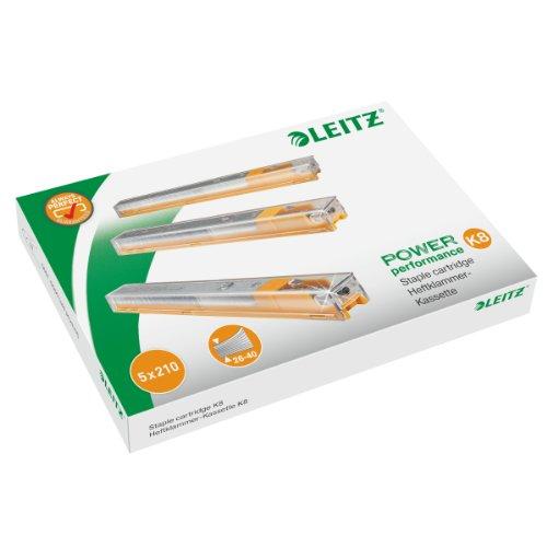 Staple Heavy Cartridge Duty (Leitz Staple Cassette Cartridge for Heavy Duty Stapler 8mm Ref 55920000 [Pack of 5])