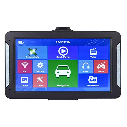 GPS Navigation for Car 7inch HD FM 8G 256MB or 128MB Latest Europe Map Resistive or Capacitive Truck GPS Navigators (Capacitive 128MB)