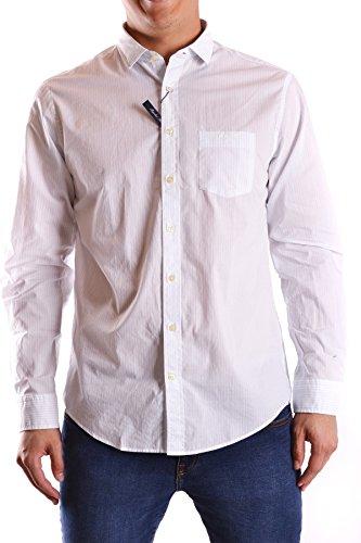 Gant Herren MCBI131038O Weiss/Schwarz Baumwolle Hemd