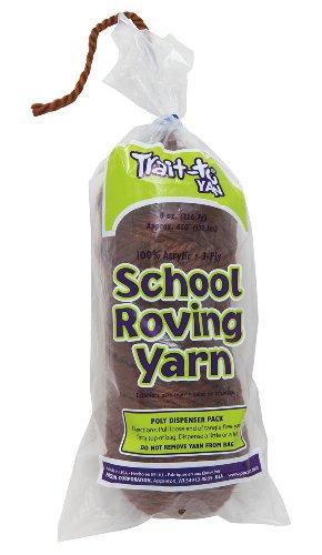 Trait-tex 3-Ply School Roving Yarn Skein, Dark Brown, 150 (Pacon Acrylic Roving Yarn)
