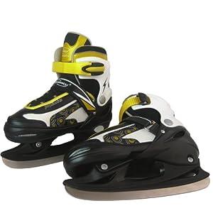 Schlittschuhe inkl. Kufenschoner, einstellbare Eishockeyschlittschuhe...