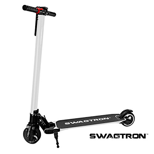 Price comparison product image SWAGTRON Swagger High Speed Adult Electric Scooter; Ultra-Lightweight Carbon Fiber; Easy Fold-n-Carry Design (White)