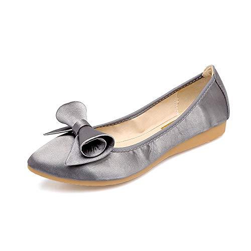 FLYRCX Moda Informal Puntiagudo portátil Plegables Zapatos Planos Solos Zapatos de Las Mujeres Embarazadas Zapatos de Trabajo de Fondo Suave Zapatos de Baile, 39 UE 43 EU
