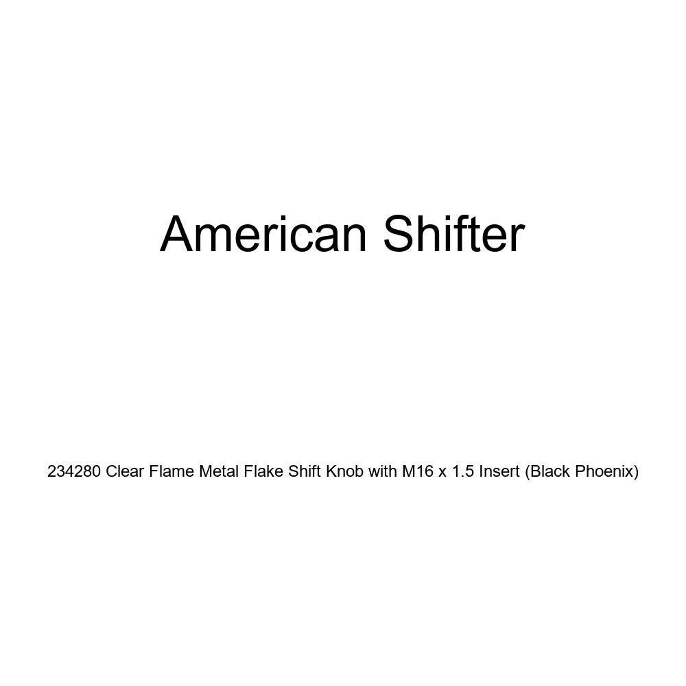 American Shifter 234280 Clear Flame Metal Flake Shift Knob with M16 x 1.5 Insert Black Phoenix