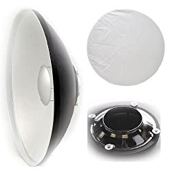 Ephoto Large 55cm Studio Photography Beauty Dish Reflector Beauty Dish For Alien Bee Alienbees White Lighting By Ephoto A121srwl