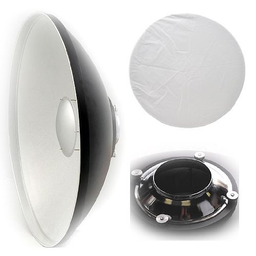 ePhoto Large 55cm Studio Photography Beauty Dish Reflector Beauty Dish for Alien Bee Alienbees White Lighting By ePhoto A121SRWL by ePhoto