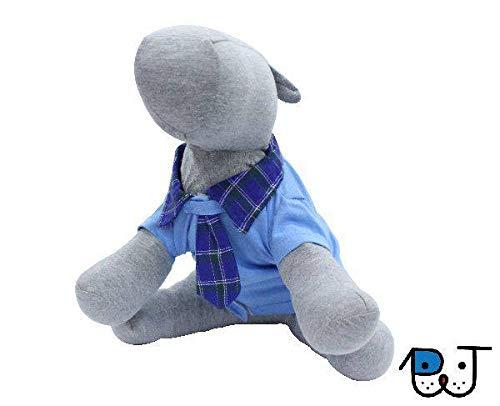 Roupa para Cães e Gatos Camisa com Gravata Azul M