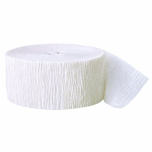 White Streamer (500ft White Crepe Paper)