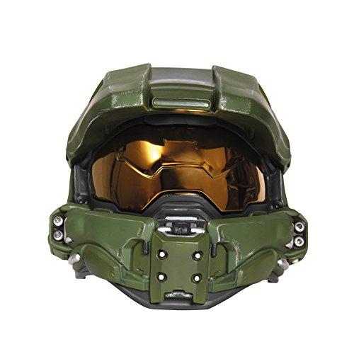 Disguise Men's Master Chief Adult Light-up Deluxe Helmet,