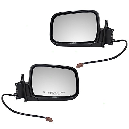Driver and Passenger Power Side View Mirrors Textured Replacement for Nissan Pickup Truck SUV 96302-3S500 96301-3S500 AutoAndArt ()