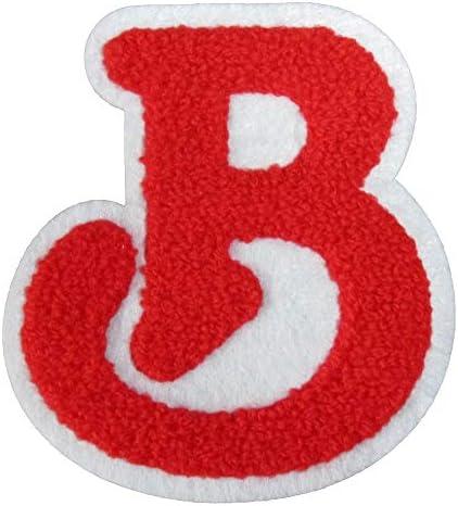 ワッペン B モコモコ (赤)