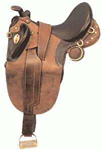 PREMIUM Shiloh Leather Australian Stock Saddle, Black, 18 inch