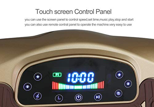 TODO Vibration Platform Power Plate Wholebody Vibrating Massager- Remote Control/Bluetooth Music/USB Connection/Adjustable Speed(Gold-Wave) by TODO (Image #3)
