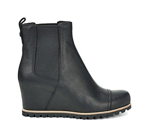 UGG Australia Womens Pax Black Leather Boots 40 EU