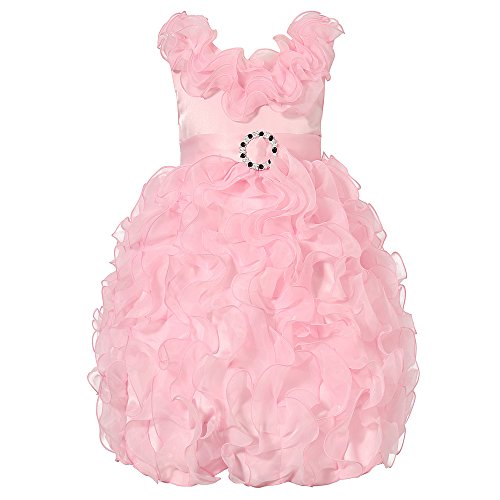 Richie House Girl's Princess Bridal Dress RH1937-B-5/6-FBA,Pink (Pink Dresses For Kids)