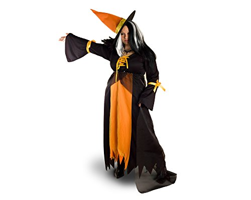 [Sunnywood Women's Plus-Size Lava Diva Bewitching Costume, Orange/Black, XX-Large] (Arm Candy Costume)