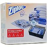 Ziploc 15 Space Saver Bag Storage Combo Set