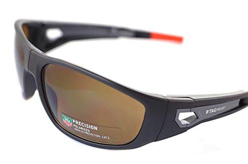 Tag Heuer Kalibre 9401 103 Rectangular Folding Sports Sunglasses Brown & Orange - For Men Heuer Sunglasses Tag