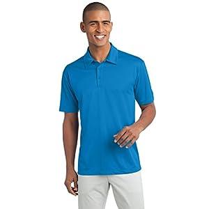 Clothe Co. Men's Short Sleeve Moisture Wicking Silk Touch Polo Shirt