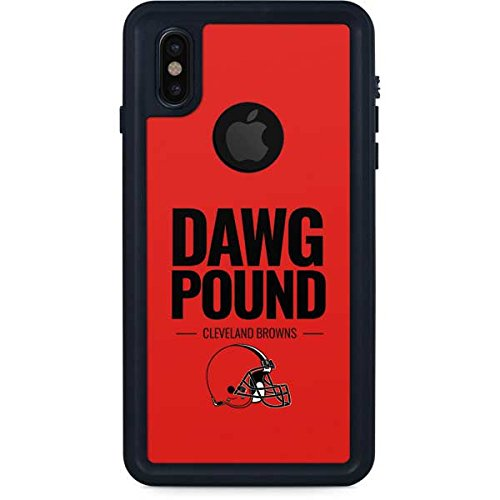 Skinit NFL Cleveland Browns iPhone X Waterproof Case - Cleveland Browns Team Motto Design - Sweat-Proof, Snow-Proof, Dirt-Proof, Dust-Proof Phone Cover - Cleveland Browns Cover