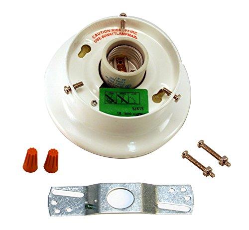Runwireless White Glass Shade Holder Kit - 3 1/4