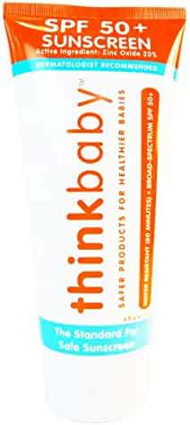 Thinkbaby Safe Sunscreen SPF 50+ - 6oz Family Size