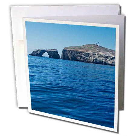 3dRose Boehm Photography Travel - Anacapa Island from The Ocean - 12 Greeting Cards with Envelopes (gc_282322_2)