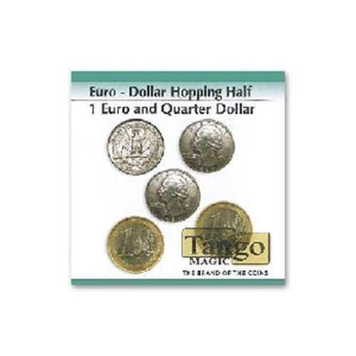 SOLOMAGIA Euro  Dollar Hopping Half  1 Euro Quarter Dollar  Magic with Coins  Magic Trick