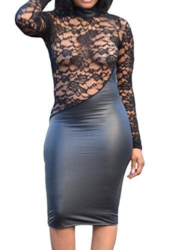 Buy belted faux wrap hi low dress - 2