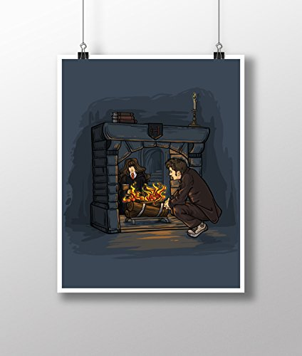Doctor Who Harry Potter The Witch in the Fireplace Medium 11x14 Art Print by Karen Hallion Illustration