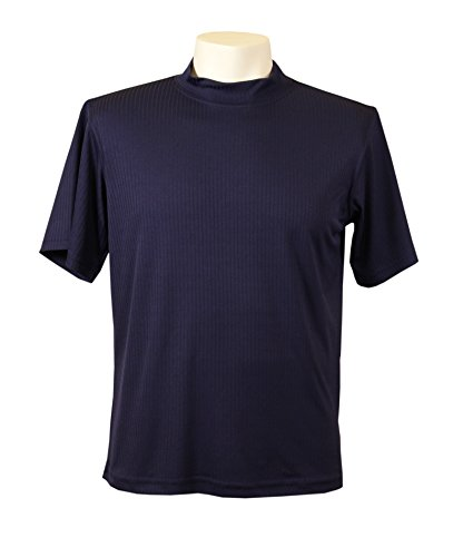 (Akwa Men's Dry Wicking Mock Turtle Tee Shirt Made in USA)
